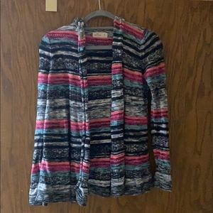 Hollister multicolor hooded cardigan